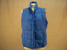 Lands End Vest Jacket Coat Goose Down Quilted Puffer Blue Women's Size 10-12  M