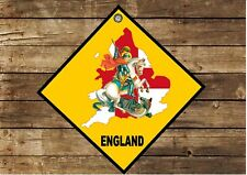 England Hanging Wall Plaque Sign English St George Sign Man Cave Sign