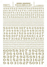 Woodland Scenics [WOO] Dry Transfer Roman Numbers Gold MG709 WOOMG709