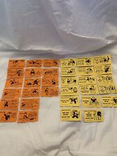 Vintage 1961 Monopoly Game Chance and Community Chest Cards FREE SHIP