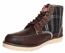 Dickies Men's Pure WL 1.1 Leather Boots - Brown/Check - UK 7 - New