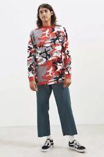 Nicopanda Long sleeve Red Camo Top Shirt Size Medium