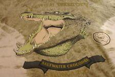 RARE 2000's TARONGA ZOO Australia Crocodile T SHIRT SIZE M Made in Australia