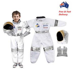 Children Astronaut Costume 3 Sizes Space NASA Suit Uniform Kids Party Book Week