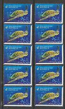 AUSTRALIA 2018 REEF GREEN SEA TURTLE 1v MNH - Bulk wholesale lot of 10