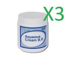 3 x Aqueous cream BP 500g dry skin mosituriser