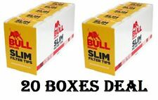2 x Bull Brand Slimline Filter Tips Box Of 10 Packets