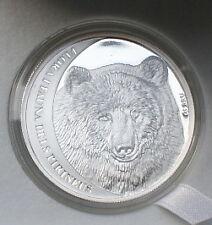 BROWN BEAR - ANDORRA 5.D. 2010 - Silver Coin  - Coin Of The Year 2012
