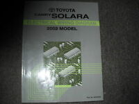 2002 Toyota Solara Electrical Wiring Diagram Troubleshooting Shop Manual EWD OEM