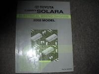 2002 Toyota Solara Electrical Wiring Diagram Troubleshooting Shop Manual EWD OEM