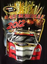 NASCAR Sprint Cup Series 2012 Schedule T-Shirt Large Racing Cars Checkered Flag