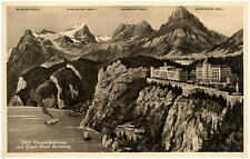 SEELISBERG Schweiz Kanton Uri ~1930 Vierwaldstättersee mit Grand Hotel alte AK
