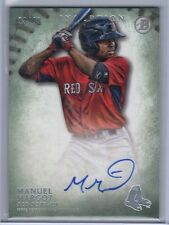 2015 Bowman Inception MANUEL MARGOT GREEN RC AUTO /99 On Card! Red Sox - Padres!