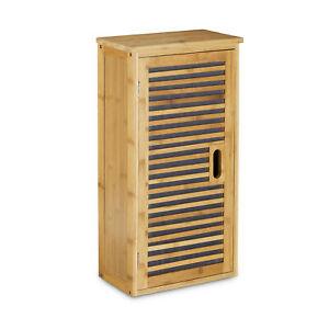 Badezimmer Hängeschrank Bambus, Badschränkchen hängend, kleiner Schrank Ablage
