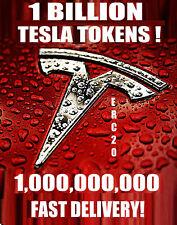 1,000,000,000 TESLA 1 BILLION TOKENS CRYPTO MINING CONTRACT ERC20 COIN