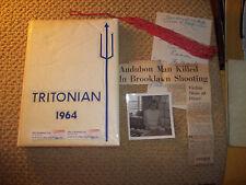 1964 TRITON REGIONAL HIGH SCHOOL YEARBOOK RUNNEMEDE NJ NEW JERSEY PLUS EXTRAS!!!