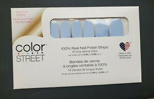 Color Street Nail Polish Strips Aspen Sky Blue NIP