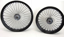 BLACK MAMMOTH FAT SPOKE WHEELS HARLEY 21x3.0 & 18x4.25