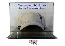 Hat Display Case Counter or Desk Top Custom Design Your Own Text GameDay Display