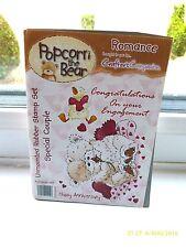 NUOVO-Crafter 's Companion-TIMBRI-Popcorn L'ORSO-sul tuo fidanzamento