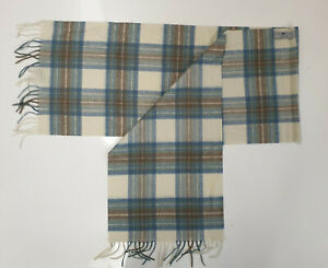 Alan Paine Cashmere Tartan Check / Plain Scarf Various Colours And Styles