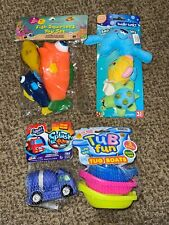 New 4 pc Bath Time Water Squirting Animal Floating Toys for Toddlers, BABY SAFE