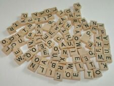 lot of 99 SCRABBLE TRAVEL EDITION SQUARE TILES Craft  (black letters)