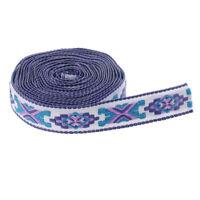 Jacquard Trim Braid Embroidered Ribbon Craft Sewing Retro Boho Ethnic Scandi Geo