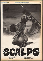 SCALPS__Orig. 1983 Trade print AD_horror promo / poster__FRED OLEN RAY_Kirk Alyn