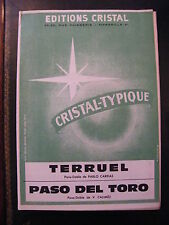 Spartito Teruel Capitano Paso del Toro Calimez
