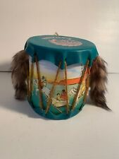 "Vintage Canada Souvenir Toy Indian Tom-Tom Tomtom ""Tom Tom"" Drum Rattle"