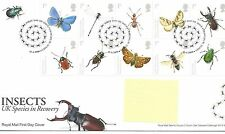 GB - FIRST DAY COVER - FDC - COMMEMS -2008- INSECTS - Pmk CRAWLEY