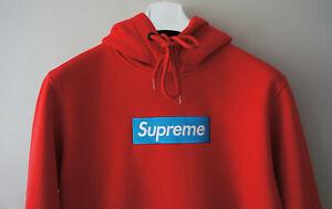 BNWT Supreme Grip Italfigo Authentic Supreme Blue Box Logo Red Hoodie F/W2020