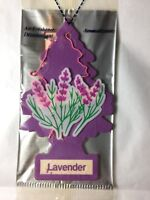 6 LAVENDER Scented Little Trees Car Air Fresheners Individually Sealed Cello