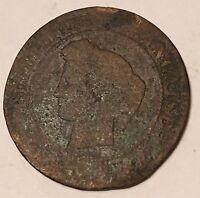 5 Centimes Cérès Bronze 18??A N1