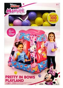 ~BRAND NEW Disney Minnie Mouse Inflatable Playland Ball pit +100 Soft Flex Balls