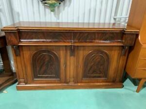 H30004 Victorian Flame Mahogany Sideboard Cupboard Cabinet