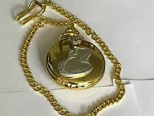 18 FORI VERDE TG9 GOLF peltro su un orologio da taschino in oro al quarzo Fob