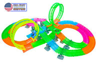 Magical Twisting Glow In the Dark Light Up Race Car Tracks Ultimate 2 Loop Track