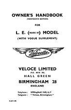 (1411) Velocette L.E. Mark III & Vogue owners handbook