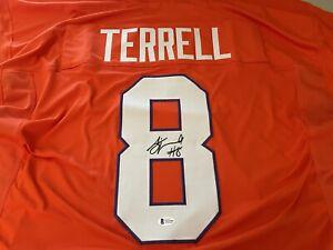AJ Terrell Signed Jersey Clemson Tigers Beckett COA