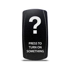 CH4X4 Rocker Switch Press to Turn ON Something Symbol - Green Led