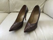 Vintage Midcentury Custom Couture Lizardskin Pumps Hand Listed Sz. 7