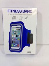 NEW Fitness Band, Universal Fit, Blue with built in key holder.