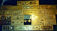 Make an offer <MINT COLLECTIBLE SET>COIN+GOLD BANKNOTE SET$1-$1M W/COA+MORE