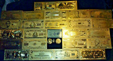 <MINT COLLECTIBLE SET>COIN+GOLD BANKNOTE SET$1-$1M W/COA+MORE FREE S&H