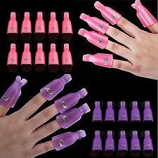 10 x Wearable Acrylic Nail Art Soaker Wrap Clip Cap UV Gel Polish Remover Tool