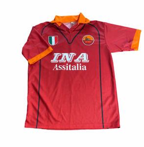 Montella Roma Jersey 2001 2002 Home Size XL Shirt Soccer Kappa Futeball Jersey