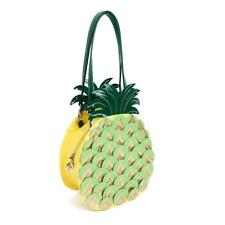 STATEMENT CUTE FAUX LEATHER 3D PINEAPPLE INSPIRED HANDBAG
