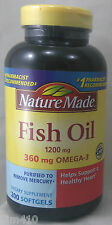 jlim410: Nature Made Fish Oil 1200mg, 200 softgels Exp.10/2018 cod/paypal